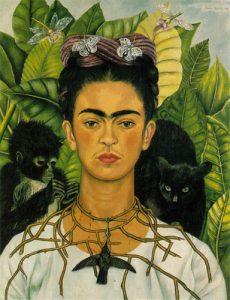 Autorretrato de Frida Kahlo collar con espinas